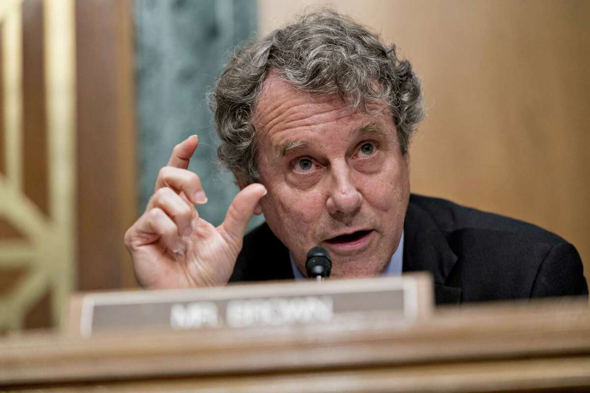 Sen. Sherrod Brown, D-Ohio, at a hearing in Washington, D.C., on July 19, 2018.