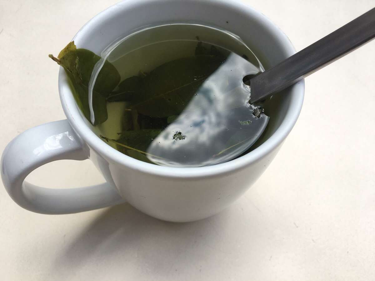 Coca leaf tea is a local remedy for altitude sickness, which some experience on the climb to Machu Picchu.