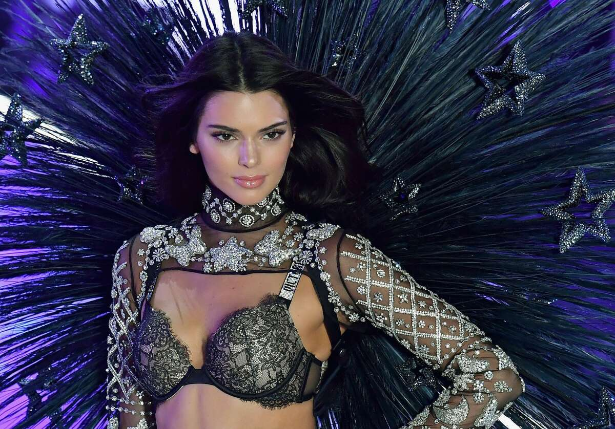 US model Kendall Jenner walks the runway at the 2018 Victoria's Secret Fashion Show on November 8, 2018 at Pier 94 in New York City. - Every year, the Victoria's Secret show brings its famous models together for what is consistently a glittery catwalk extravaganza. It's the most-watched fashion event of the year (800 million tune in annually) with around 12 million USD spent on putting the spectacle together according to Harper's Bazaar. (Photo by Angela Weiss / AFP) (Photo credit should read ANGELA WEISS/AFP/Getty Images)