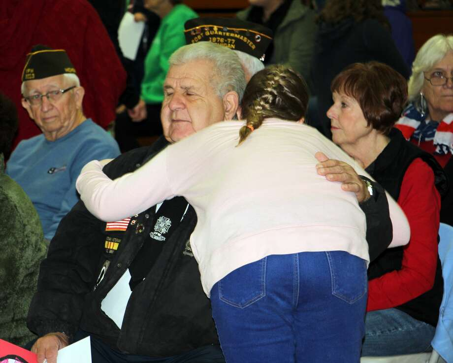 Elkton-Pigeon-Bay Port Laker students honored local veterans Friday morning with special program aimed toward those in the service — past and present. Photo: Bradley Massman/Huron Daily Tribune