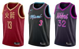 A look at the NBA City Edition jerseys for the 2018-19 season.