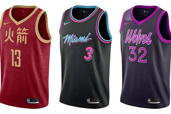 new styles 3548c cbc99 A look at every team's NBA 'City' uniforms this season ...