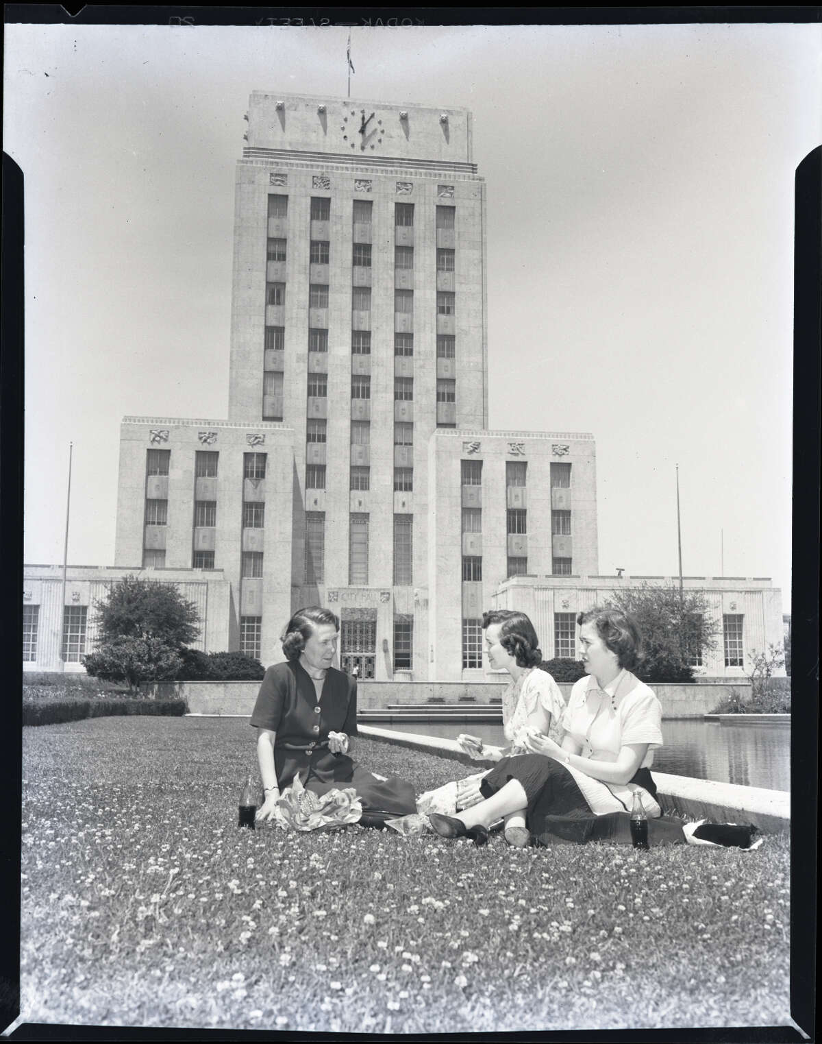 Circa 1950s: Lunch at Houston City Hall