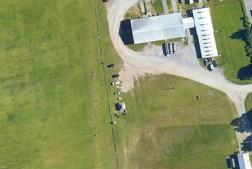 This is a Google Earth image of the property off Weibel Avenue in Saratoga Springs where Prestige Limousine often parked its vehicles.
