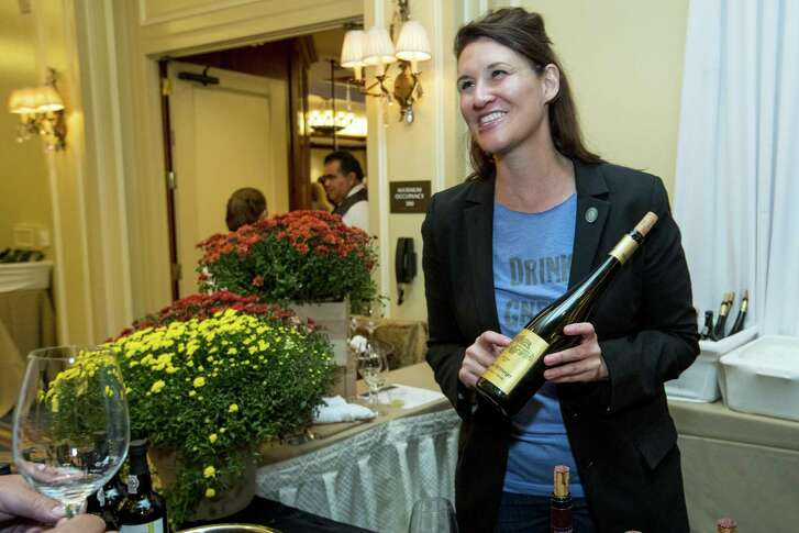 Sommelier Julie Dalton of Mastro's was the big winner at Iron Sommelier 2018.