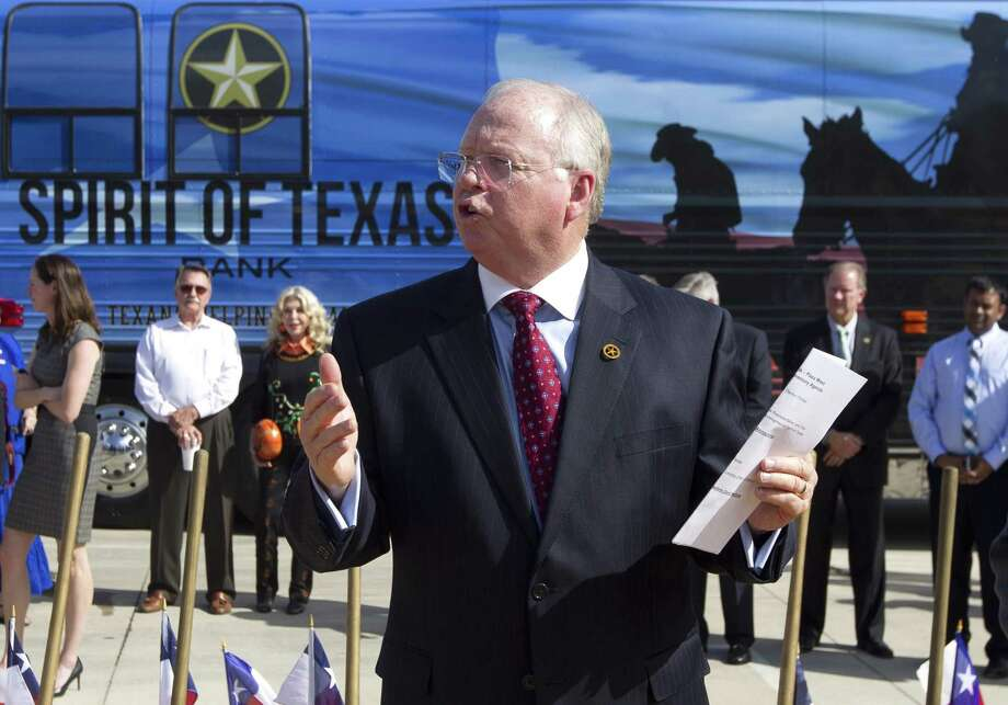 Spirit of Texas Bank CEO Dean Bass spoke to the Conroe City Council Thursday regarding a possible hotel and convention center at the bank's complex in downtown.>>>See more for the nation's top hotels of 2018... Photo: Jason Fochtman, Staff Photographer / Houston Chronicle / © 2017 Houston Chronicle