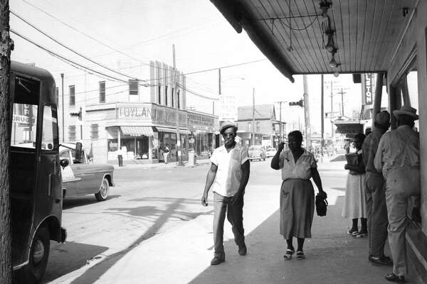 Lyons and Jensen in Houston's Fifth Ward, 1956.