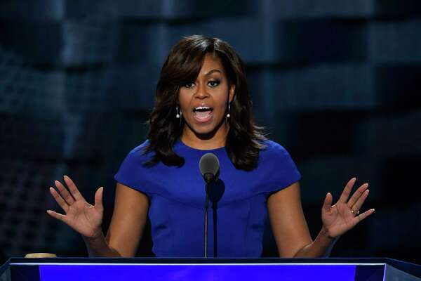 Michelle Obama speaks during the Democratic National Convention in Philadelphia in July 2016.