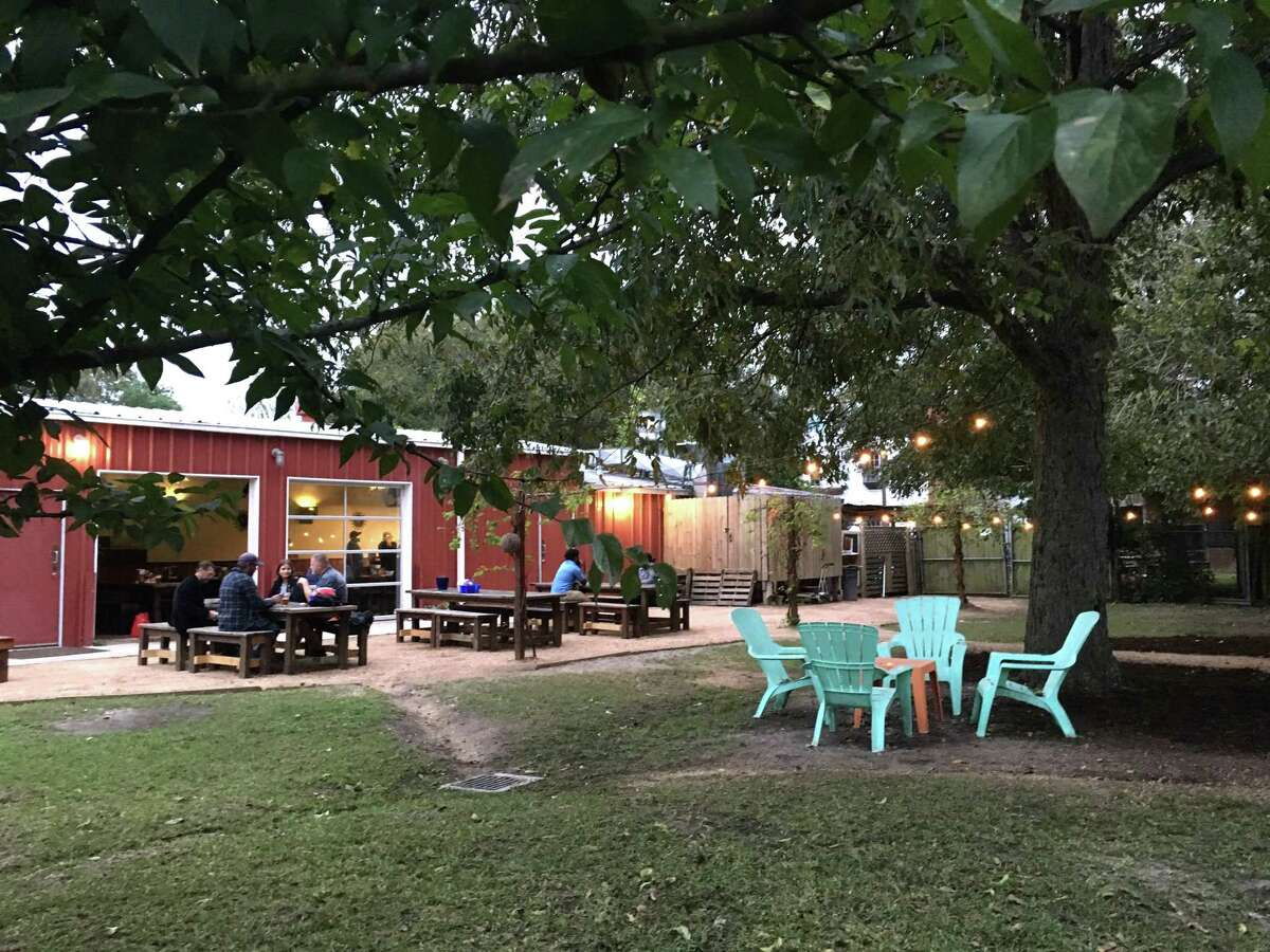 The beer garden at City Acre Brewing >>Check out some past restaurants featured in Burger Friday...