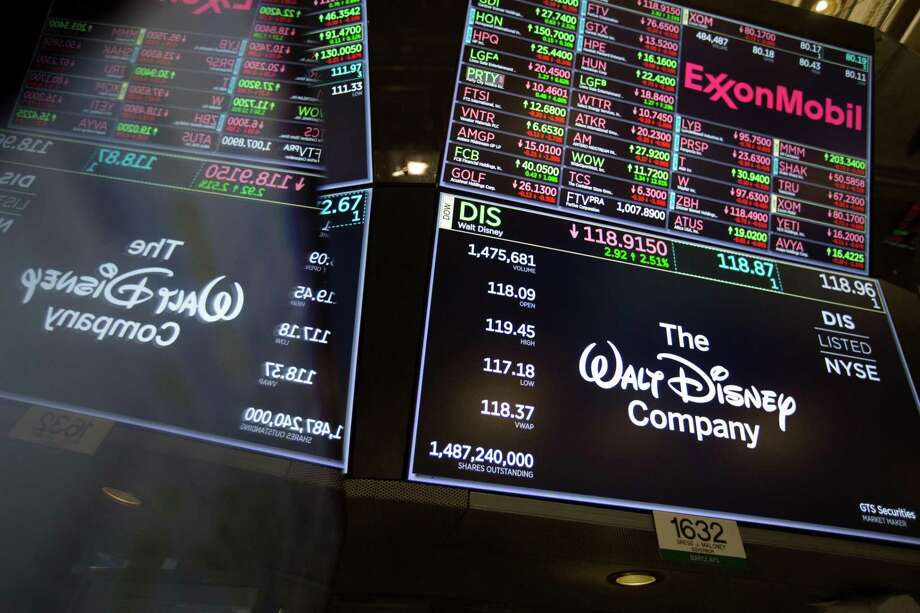 A monitor displays Walt Disney Co. signage on the floor of the New York Stock Exchange (NYSE) in New York, U.S., on Friday, Nov. 9, 2018. Photographer: Michael Nagle/Bloomberg Photo: Michael Nagle / Bloomberg / © 2018 Bloomberg Finance LP