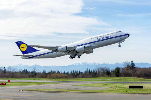 Lufthansa's SFO-Frankfurt route will briefly get a 747-8 in January.