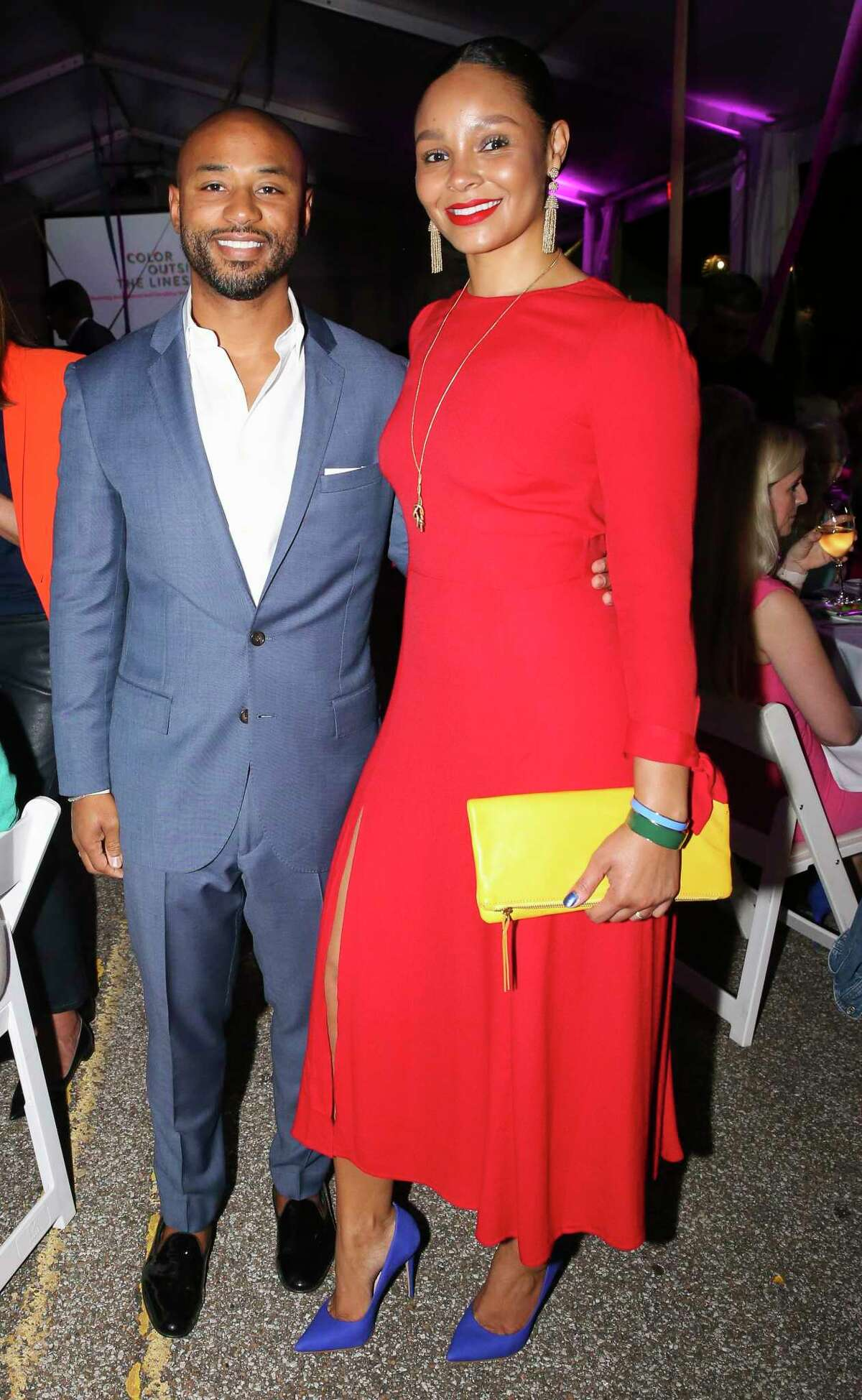 Paul and Tanisha Canning pose for a photograph at the