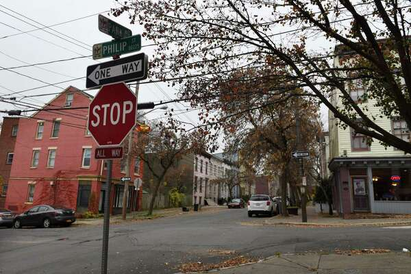 Park Avenue and Philip Street where a 22-year-old man was shot on Friday, Nov. 9, 2018, in Albany N.Y. The incident occurred just before midnight Thursday, police said. He is in critical condition. (Will Waldron/Times Union)