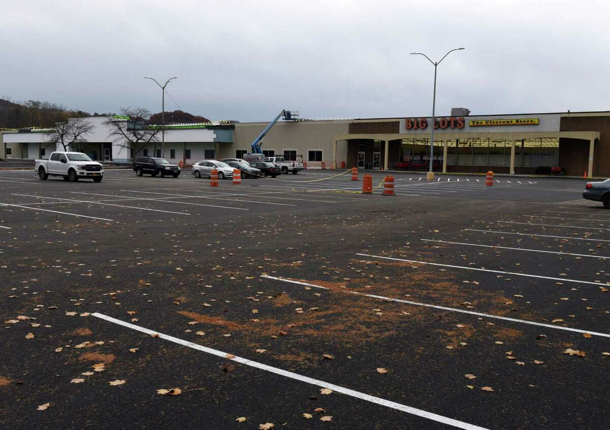Parking lot where the Big Lots store is located on Columbia Turnpike on Friday, Nov. 9, 2018, in East Greenbush N.Y. (Will Waldron/Times Union)