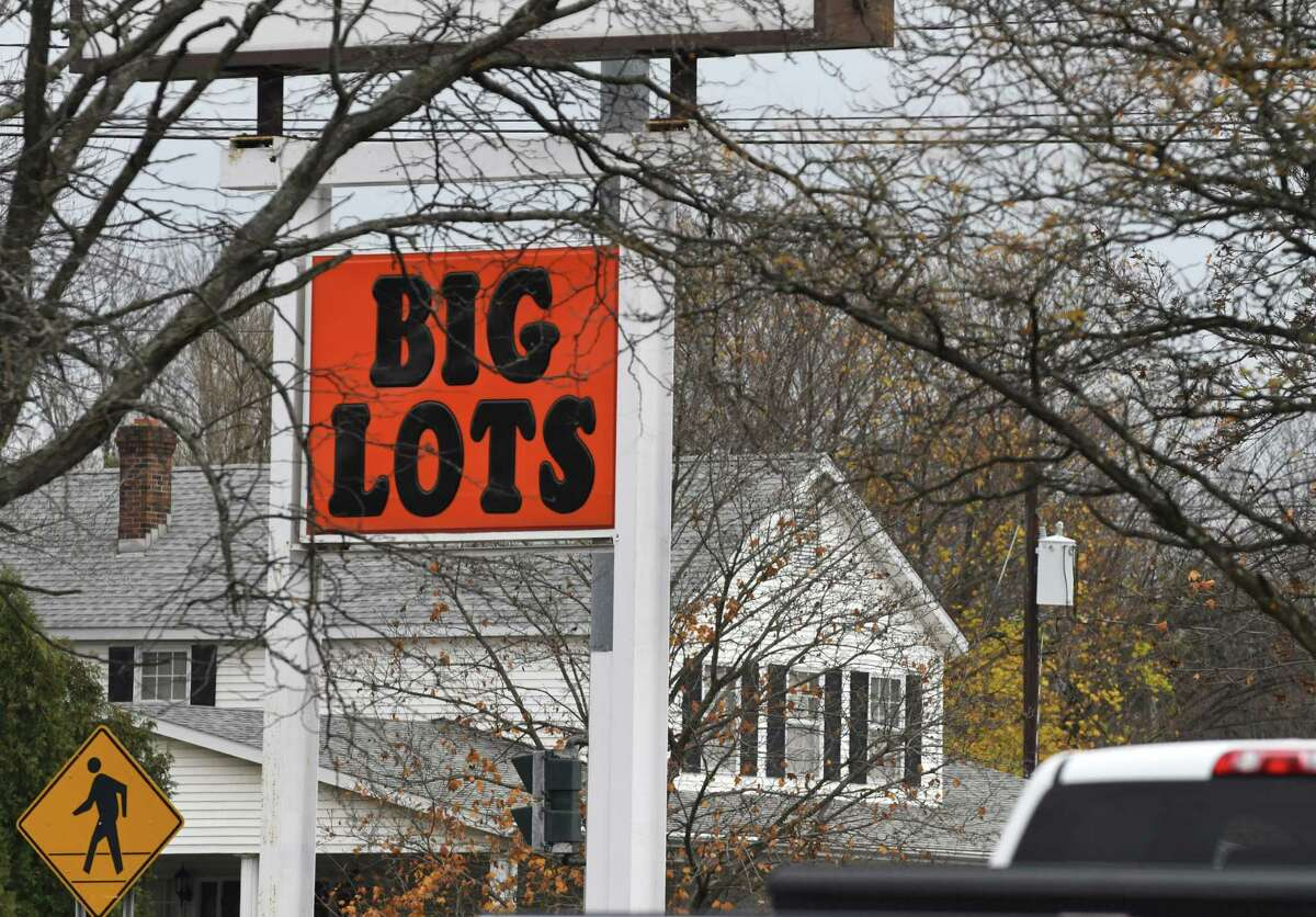 Sign for the Big Lots store on Columbia Turnpike on Friday, Nov. 9, 2018, in East Greenbush N.Y. (Will Waldron/Times Union)