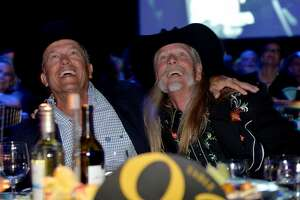 George Strait (L) and Honoree Dean Dillon attend the 61st annual BMI Country Awards on November 5, 2013 in Nashville, Tennessee.