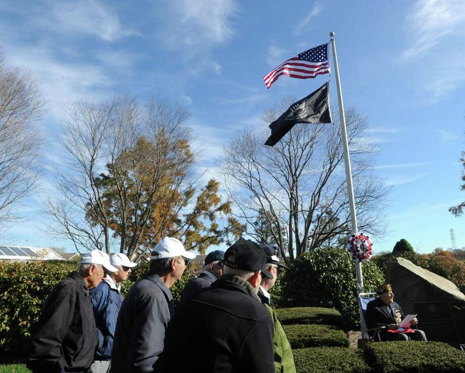 The public is invited to gather with VFW Post 10112 at 10:30 a.m. Saturdayat its memorial on Strickland Road for a Veterans Day ceremony. The memorial is adjacent to the docks and is across from the Greenwich Historical Society. Photo: File / Greenwich Time