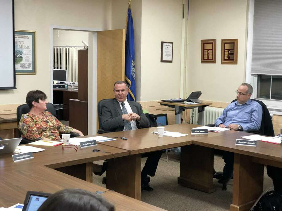 Joseph Erardi of JE Consulting presented an update on the search for a new Superintendent to the North Haven Board of Education Thursday. Photo: Ben Lambert / Hearst Connecticut Media