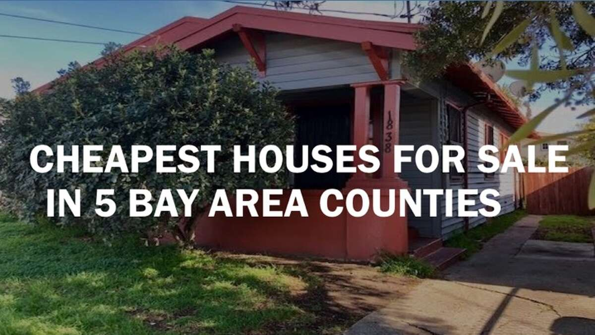 Click through the gallery of the cheapest houses for sale in five Bay Area counties.