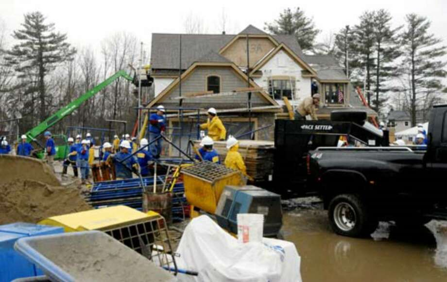 The front view of Debbie Oatman's new home, Monday, March 26. Photo: Skip Dickstein