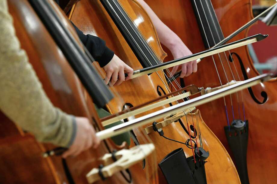 Lone Star College-CyFair's symphonic orchestra and jazz ensemble will perform Dec. 6. Pictured here: The Empire State Youth Orchestra rehearses at The Brown School ahead of ESYO's fall opener on Nov. 3 on Tuesday, Oct. 23, 2018 in Schenectady, N.Y. (Lori Van Buren/Times Union) Photo: Lori Van Buren, STAFF PHOTOGRAPHER / Albany Times Union / 20045146A