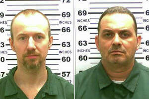 """In undated photos released by the New York State Police, David Sweat, left, and Richard Matt, who escaped from an upstate New York prison in 2015. The actor Ben Stiller went behind the camera to adapt their  escape and subsequent manhunt into the upcoming Showtime miniseries """"Escape at Dannemora a gritty, intense drama calling to mind the dark thrillers of the 1970s. (New York State Police via The New York Times) -- FOR EDITORIAL USE ONLY --"""