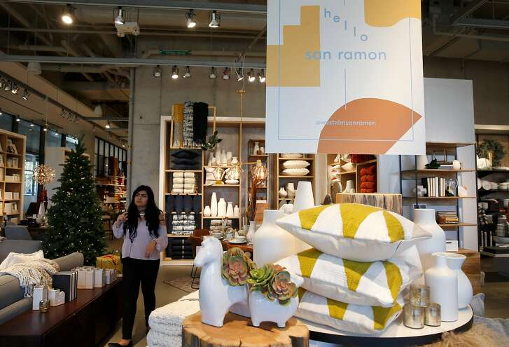 A West Elm home furnishing store is one of the first businesses to open at the new City Center Bishop Ranch outdoor shopping mall in San Ramon, Calif. on Thursday, Nov. 8, 2018.