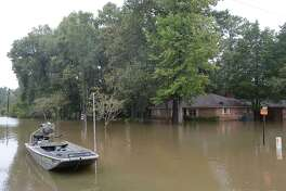 Bevil Oaks residents were ordered to leave their homes following Monday's issuance of a mandatory evacuation. Pine Island Bayou is rising rapidly, and the flooding is expected to exceed 1994's 27 foot flood by at least 4 feet, according to residents. Photo taken Monday, August 28, 2017 Kim Brent/The Enterprise