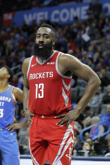 4063dfd57b23 3of4Houston Rockets guard James Harden (13) during the first half of an NBA  basketball game against the Oklahoma City Thunder on Thursday