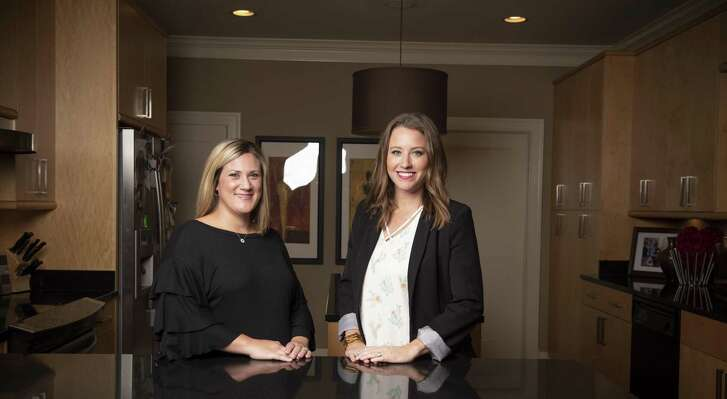 Katie Rakowitz, left, and Tiffany Murgo founded San Antonio-based Time Out Sitters to help other moms find child care. The startup has expanded to Austin and Waco.
