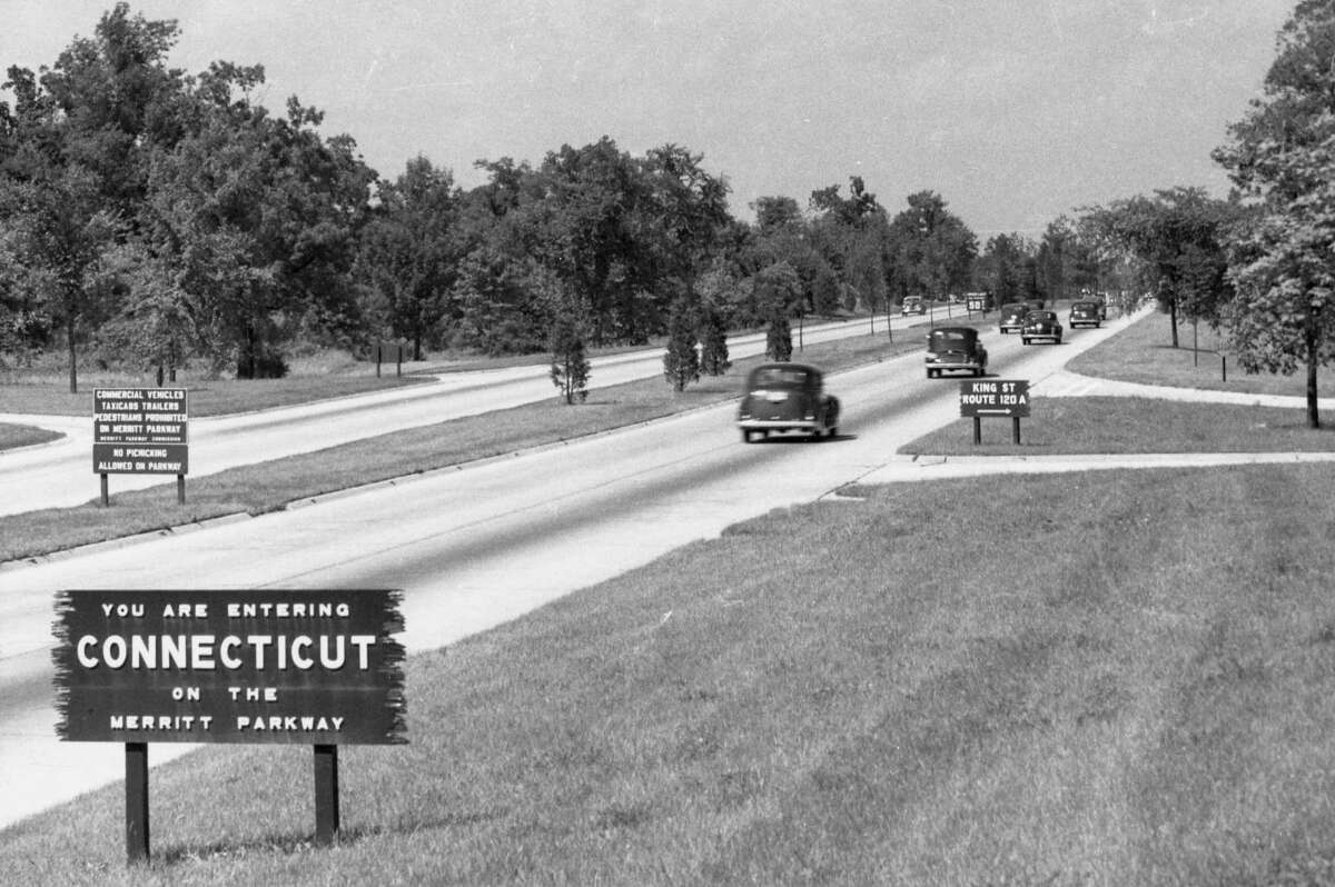 An early photo of the Merritt Parkway