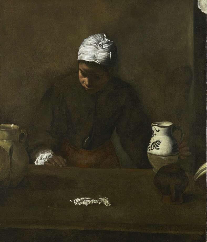 """""""Kitchen Maid,"""" attributed to Diego Velazquez, is now on view in the European galleries of the Museum of Fine Arts, Houston's Beck building. Photo: Museum Of Fine Arts, Houston / Museum Of Fine Arts, Houston"""