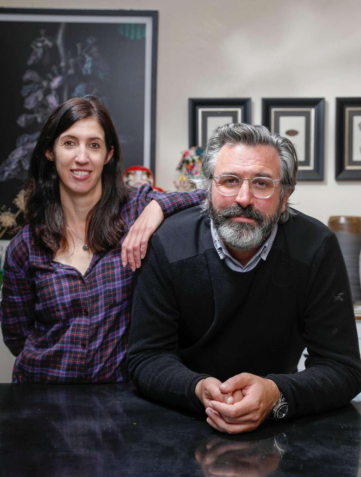 Samantha Sheehan and Michael McDermott at his studio.
