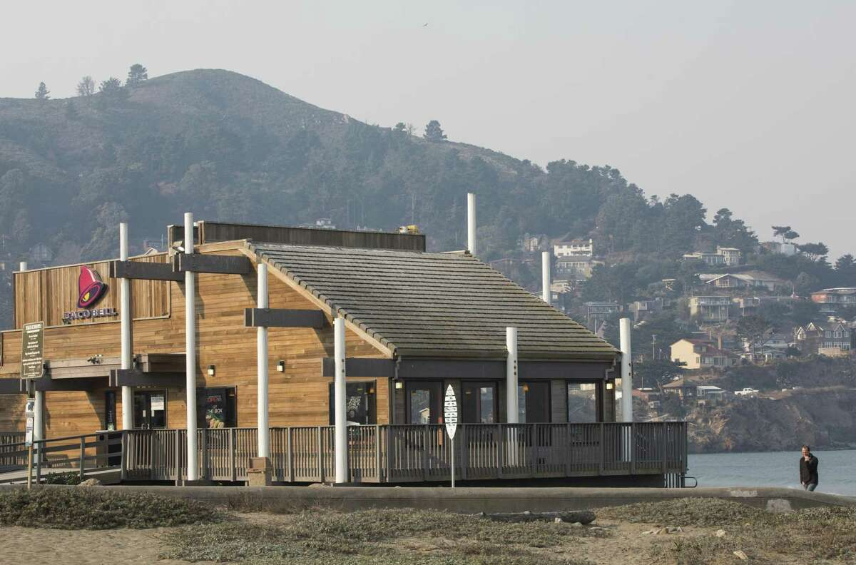 Taco Bell on the shores of Pacifica.
