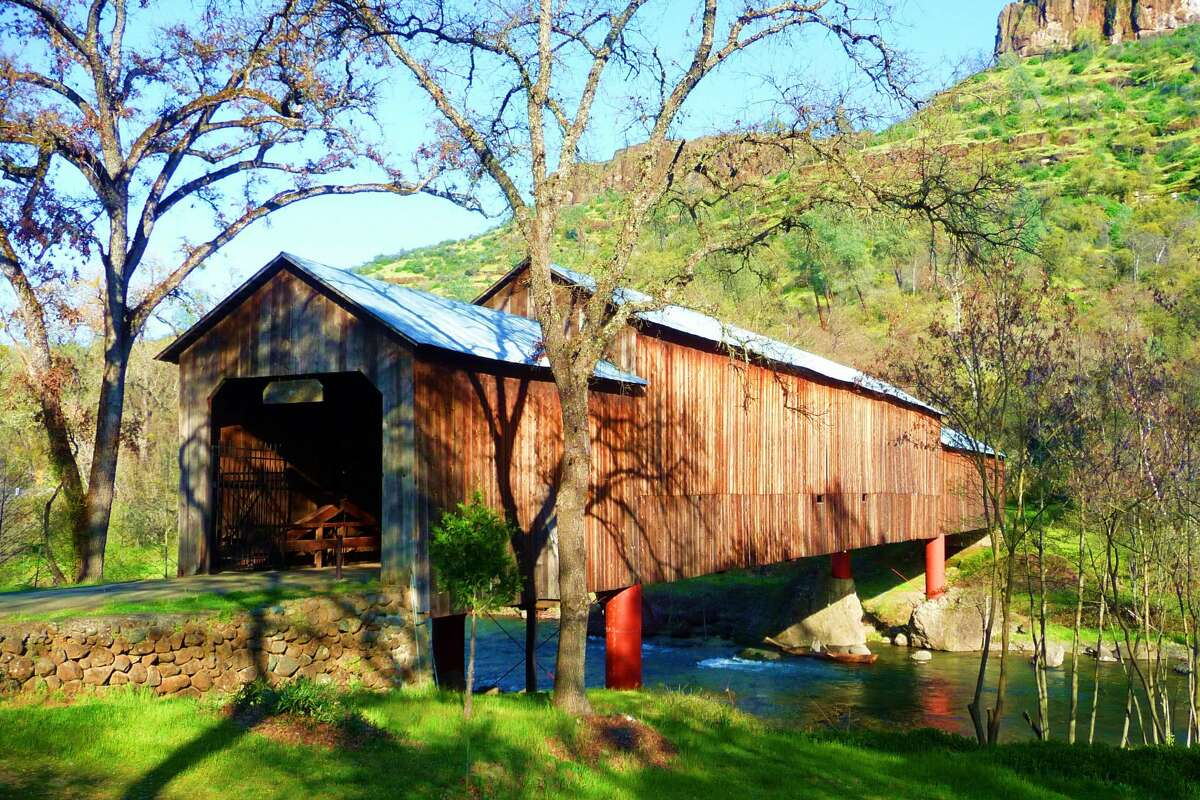 Honey Run Covered Bridge in Chico, California, was the only triple-span covered bridge in the U.S.