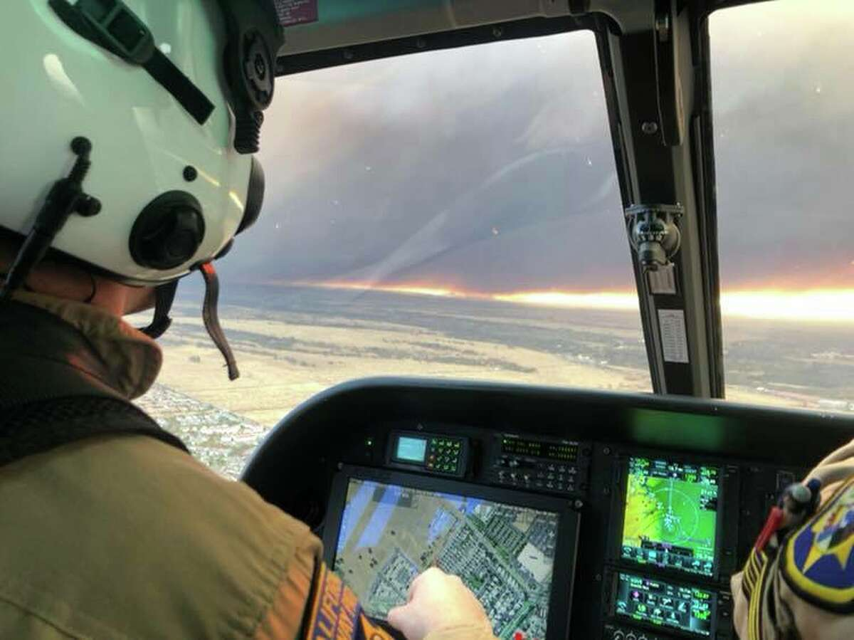 Rescue operations in Butte County by CHP Northern Division Air Operations.