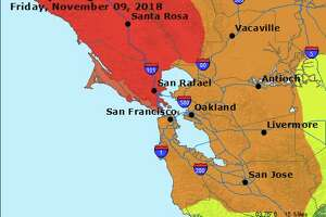 The air quality forecast for the Bay Area as of Friday.