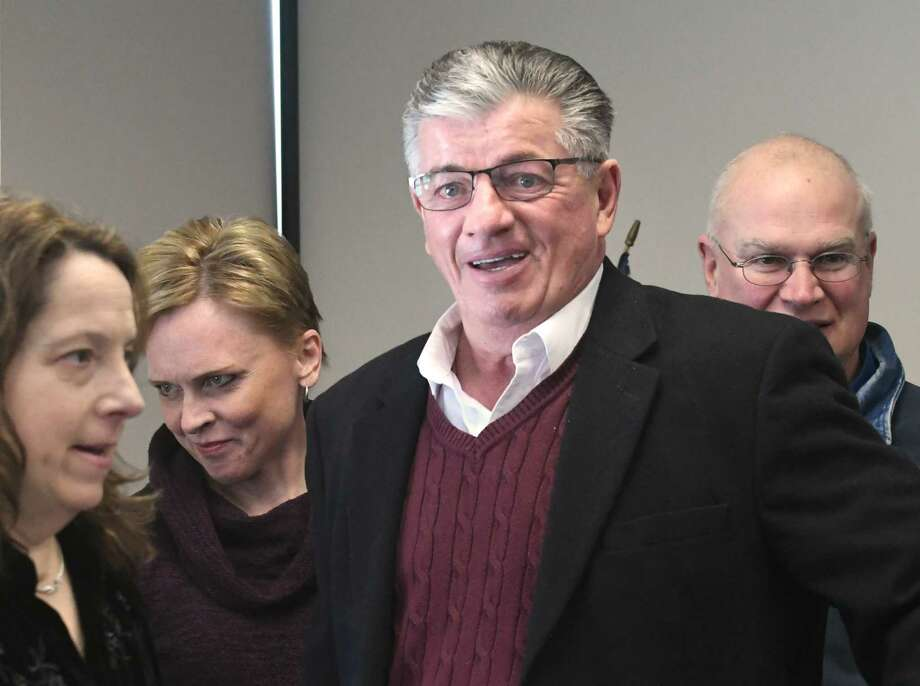 North Greenbush Town Supervisor Lou Desso is seen at a walking out-ceremony for retiring Chief Robert Durivage at the North Greenbush Police Department on Friday, Feb. 9, 2018 in North Greenbush, N.Y. (Lori Van Buren/Times Union) Photo: Lori Van Buren / 20042900A