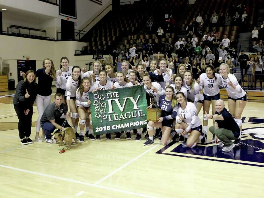 The Yale women's volleyball team beat Cornell on Friday night to win the Ivy League championship. Photo: Steve Musco / Yale Athletics / ©2018 - 2019 Steve Musco , All rights reserved