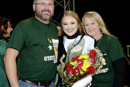 Derrick and Lauren Ewing and Denise Carpenter were at the Lumberton vs. Little Cypress-Mauriceville district game at LCM. Photo taken Friday, November 9, 2018 Kim Brent/The Enterprise