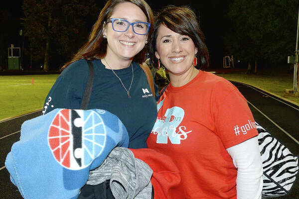 Jennifer Roebuck and Holly Ibeck were at the Lumberton vs. Little Cypress-Mauriceville district game at LCM. Photo taken Friday, November 9, 2018 Kim Brent/The Enterprise