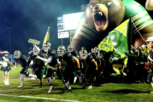 Little Cypress-Mauriceville burst onto the field against Lumberton during their district game at LCM. Photo taken Friday, November 9, 2018 Kim Brent/The Enterprise