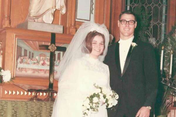 Cheri and Jake Diebel on their wedding day in 1968.