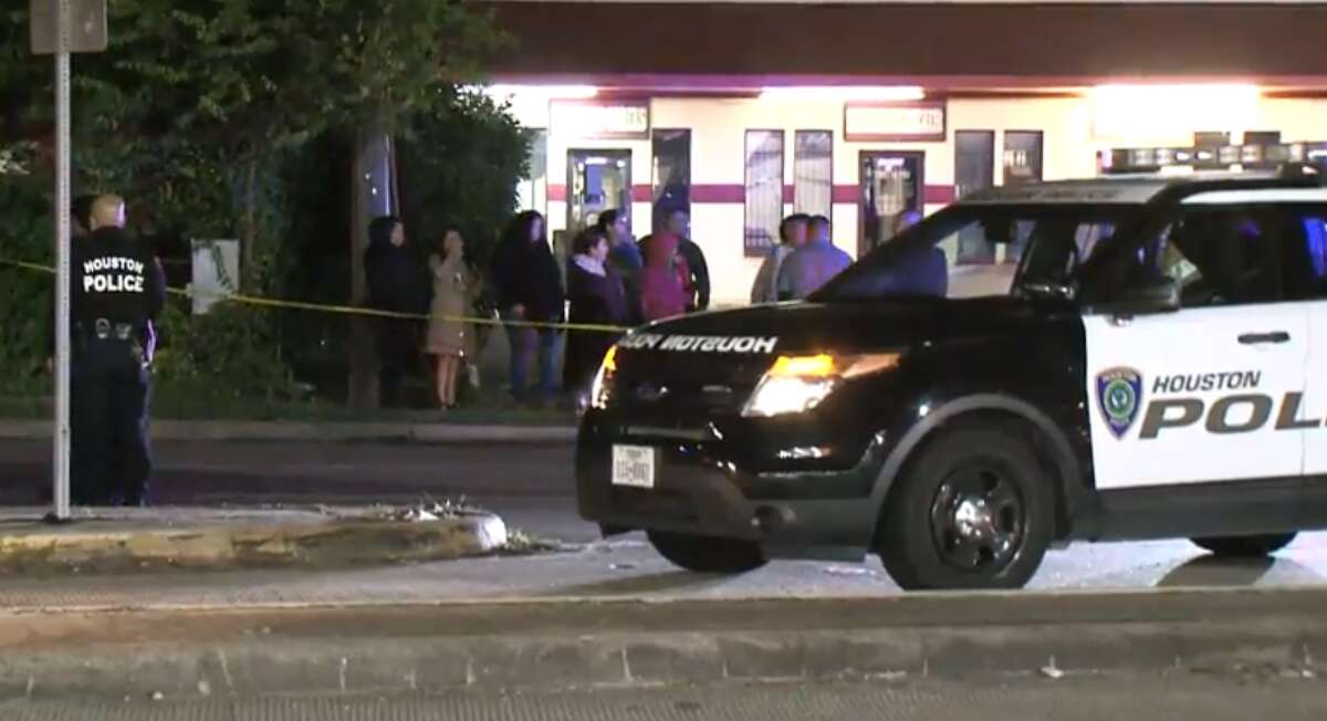 Houston police are searching for a dark pickup after a hit-and-run killed a pedestrian about 8:30 p.m. Friday near the intersection of South Post Oak Road at the South Sam Houston Parkway West.