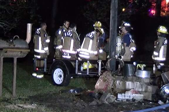 "Montgomery County firefighters found a Conroe-area man in a nearby lake while responding to a ""garage-type"" structure fire about 11 p.m. Friday."