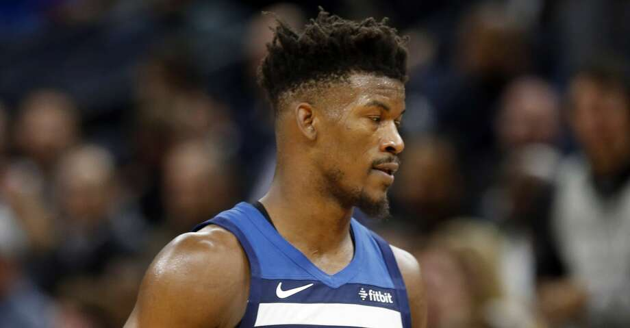 Minnesota Timberwolves' Jimmy Butler plays against the Los Angeles Lakers in the second half of an NBA basketball game Monday, Oct. 29, 2018, in Minneapolis. (AP Photo/Jim Mone) Photo: Jim Mone/Associated Press