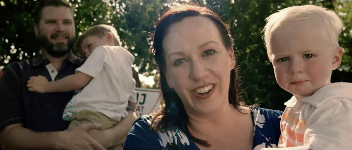 Democrat MJ Hegar?'s biographic campaign video has more than 5 million views on YouTube and social media. It tells the story of the former Air Force pilot?'s life, and her military service, including crash-landing a helicopter after it was shot down in Afghanistan. She was honored with the Purple Heart and the Distinguished Flying Cross. In this still image taken from the video, Hegar is joined by her husband, Brandon, and her two sons. She is running for Congress against 8-term incumbent Rep. John Carter of Round Rock.