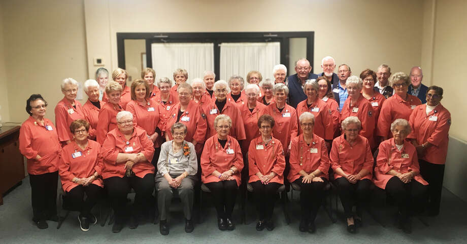 The 2018 Covenant Health Plainview Auxiliary group consists of volunteers: (front row from left to right) Edna Heflin, Charla Hughes, Willa Ruth Simmons, Nancy Bowden, Sammie Roberts, Rose Ann Bailey, Evelyn Ball and JoAnn Rogers. Second row: Maria Jimenez, Betty Odom, Henriette Eldred, Carolyn Huddleston, Pam Burress, Shirley Hilburn, Peggy Alexander, Judy Gattis, Inez Hillman, Donna Burnett, Freda Provence, Dalia Walls, Andrea Urwin, Marsha Allen, Diane Ward, Janice Sageser, Shelda Rogers, Judy FitzGerald and Freda Savahl. Back row: Barbara Bell, Sharon Wright, Deborah Clinton, Sally Phillips, Donna Burnett, Treva Tenery, Pearl Acker, Ronny Hughes, Joe Nance, Bob Bowden, Daryl Dixon and Ron Gammage. Photo: Homer Marquez/Covenant Health Plainview