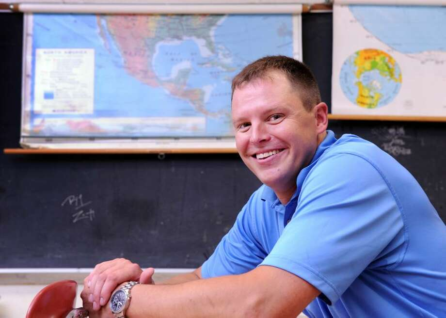 Central High School teacher Les Thornbury is going to teach English in Mexico for a year as part of the Fulbright Classroom Teacher Exchange Program.  A teacher from Mexico, in turn, will be teaching in Bridgeport for a year. Photo: Autumn Driscoll / Connecticut Post