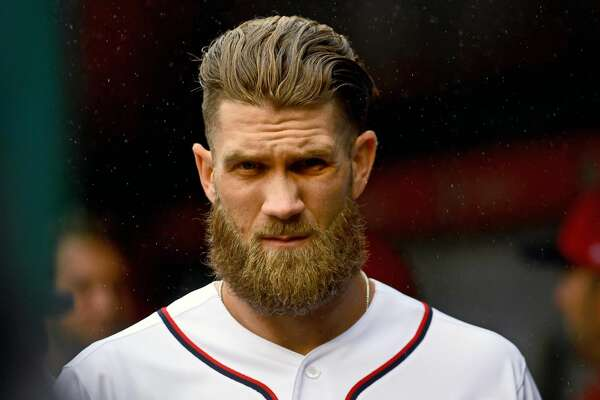 Bryce Harper did not reach terms during a negotiating session with the Nationals last month. MUST CREDIT: Washington Post photo by Katherine Frey